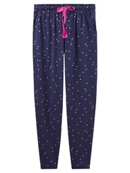 Joules Erica Jersey Star Print Pyjama Bottoms French Navy