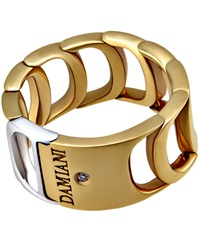 Damiani Damianissima 18K White And Yellow Gold Ring 7.5