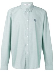 Carven Cutaway Collar Shirt Green