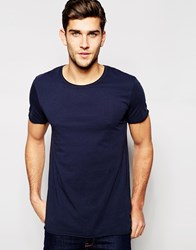 Junk De Luxe Raw Edge Organic T Shirt Navy