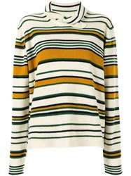 J.W.Anderson Jw Anderson Striped High Neck Sweater Brown