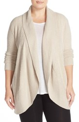 Barefoot Dreamsr Plus Size Women's Dreams Open Front Circle Cardigan Stone