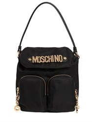 Moschino Logo Lettering Nylon Shoulder Bag