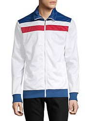 American Stitch Tricot Two Stripe Jacket White