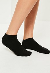 Missguided Black Basic 3 Pack Trainer Socks