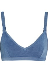 Base Range Stretch Bamboo Soft Cup Bra Blue