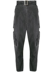 Masnada High Waisted Trousers Grey