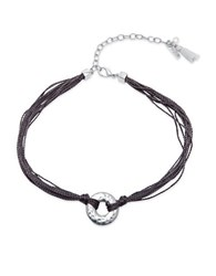 Lonna And Lilly Cubic Zirconia Rope Trimmed Choker Silver