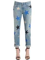 Stella Mccartney Stars Printed Stretch Cotton Denim Jeans
