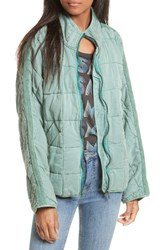 Free People Women's Dolman Quilted Jacket Light Green