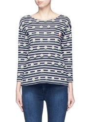 Chinti And Parker X Miffy 'Miffy Daisy Sailor' Stripe Cotton T Shirt Multi Colour