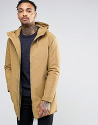 Pull And Bear Pullandbear Parka With Hood In Tan Tan