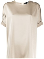 Paule Ka Relaxed Fit Turn Up Cuff Blouse 60