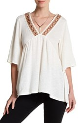 Wild Pearl Embroidered Tunic White