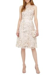 Phase Eight Embellished Floral Mesh Fit And Flare Dress Cameo