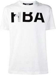 Hood By Air Logo Print T Shirt White