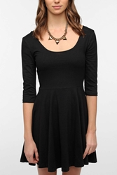 Sparkle And Fade 3 4 Sleeve Knit Skater Dress Black