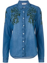 Essentiel Antwerp Embroidered Denim Shirt Cotton Blue
