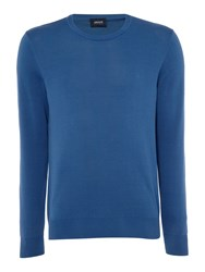 Armani Jeans Men's Crew Neck Cotton Jumper Blue