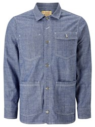 John Lewis And Co. Chambray Jacket Blue