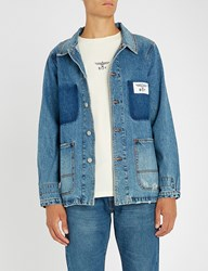 Boy London Is Love Denim Jacket Blue