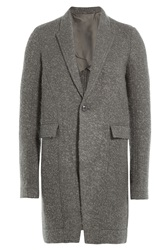 Rick Owens Men Coat With Virgin Wool And Mohair Grey