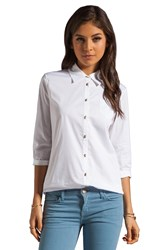 Elizabeth And James Jeweled Button Cohen Shirt White