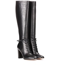 Gianvito Rossi Knee High Leather Boots Black