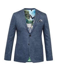 Ted Baker Men's Cram Herringbone Wool Jacket Blue