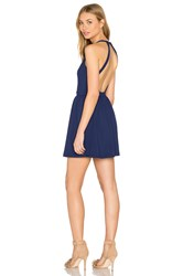 Susana Monaco Backless Fit And Flare 16' Dress Blue