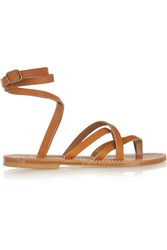 K Jacques St Tropez Zenobie Leather Sandals Brown