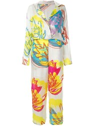 All Things Mochi Printed Jumpsuit White