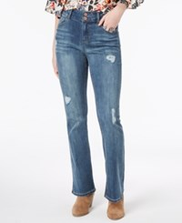 Vanilla Star Juniors' Ripped Double Button Bootcut Jeans Elias