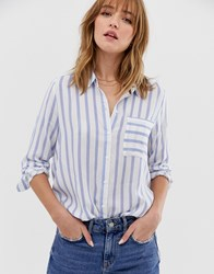 Only Stripe Shirt With Pocket Multi