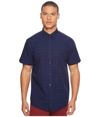 Ben Sherman Short Sleeve Red White Dot Print Shirt Staples Navy Men's Short Sleeve Button Up Black