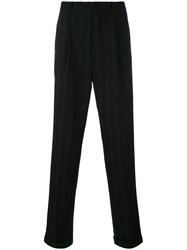 Jean Paul Gaultier Vintage Pinstriped Tailored Trousers Black
