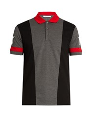 Givenchy Cuban Fit Star Print Polo Shirt Grey Multi
