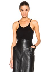 Tibi Cashmere Cami Top In Black