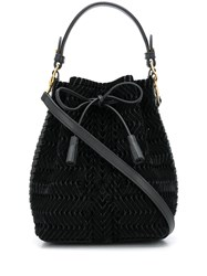 Anya Hindmarch Neeson Drawstring Tote Bag Black