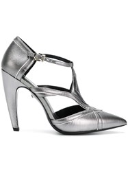 Just Cavalli Cut Out Panel Pumps Metallic