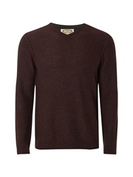 White Stuff Fade Out V Knit Brown