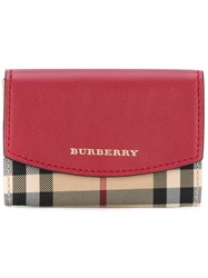 Burberry Haymarket Check Wallet Women Leather Nylon One Size Nude Neutrals