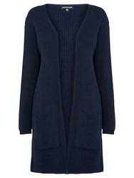 Warehouse Ribbed Edge To Edge Cardigan Navy