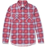Visvim Checked Cotton Flannel Shirt Red
