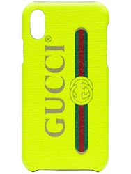 Gucci Fluorescent Yellow Iphone X Case