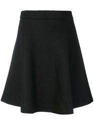 Moncler A Line Pleated Skirt Polyamide Virgin Wool Black