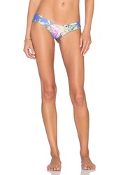 Stone Fox Swim Tucker Signature Thong Bikini Bottom Blue