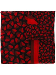 Paul Smith Ps Heart Print Scarf Black