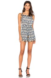Star Mela Aubri Print Playsuit Green