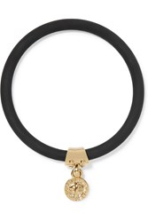 Marc By Marc Jacobs Rubber Gold Tone Bangle Black
